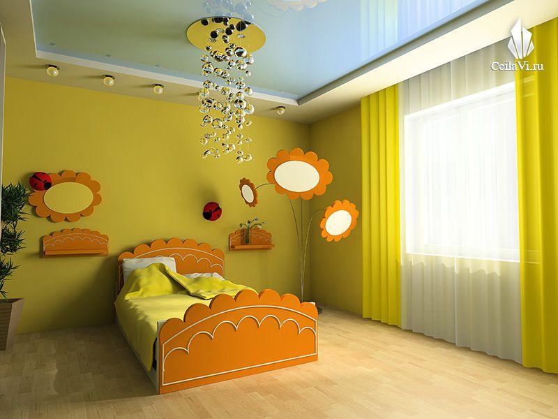 Натяжные потолки в детскую комнату дизайн